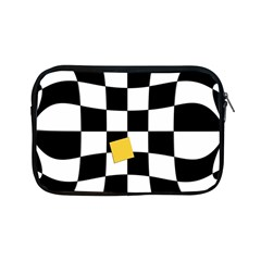 Dropout Yellow Black And White Distorted Check Apple Ipad Mini Zipper Cases