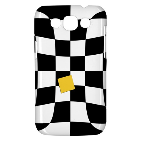 Dropout Yellow Black And White Distorted Check Samsung Galaxy Win I8550 Hardshell Case