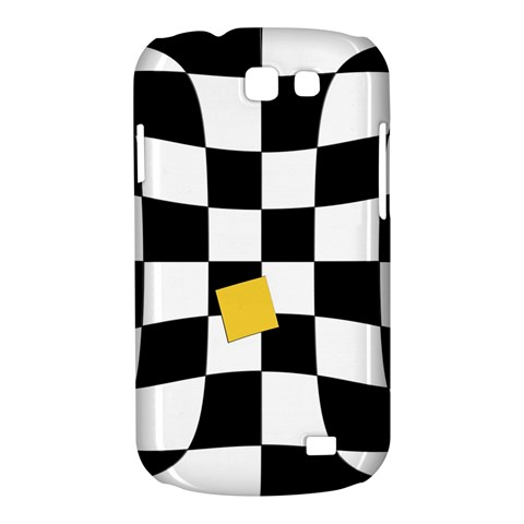 Dropout Yellow Black And White Distorted Check Samsung Galaxy Express I8730 Hardshell Case