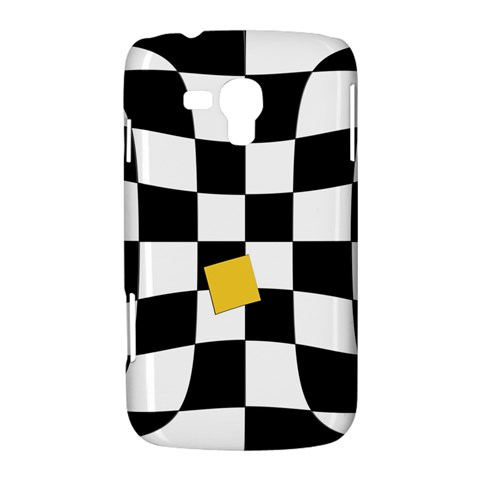 Dropout Yellow Black And White Distorted Check Samsung Galaxy Duos I8262 Hardshell Case