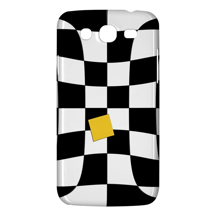 Dropout Yellow Black And White Distorted Check Samsung Galaxy Mega 5.8 I9152 Hardshell Case
