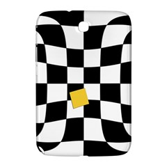 Dropout Yellow Black And White Distorted Check Samsung Galaxy Note 8 0 N5100 Hardshell Case