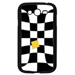 Dropout Yellow Black And White Distorted Check Samsung Galaxy Grand DUOS I9082 Case (Black) Front