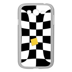 Dropout Yellow Black And White Distorted Check Samsung Galaxy Grand Duos I9082 Case (white)