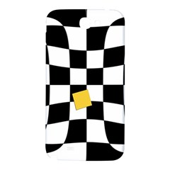 Dropout Yellow Black And White Distorted Check Samsung Note 2 N7100 Hardshell Back Case