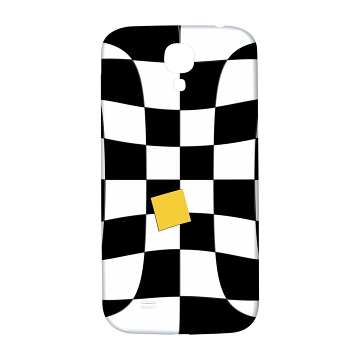 Dropout Yellow Black And White Distorted Check Samsung Galaxy S4 I9500/I9505  Hardshell Back Case