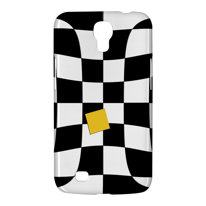 Dropout Yellow Black And White Distorted Check Samsung Galaxy Mega 6.3  I9200 Hardshell Case