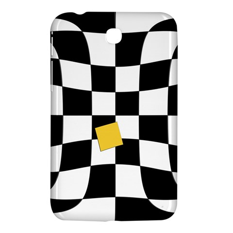 Dropout Yellow Black And White Distorted Check Samsung Galaxy Tab 3 (7 ) P3200 Hardshell Case