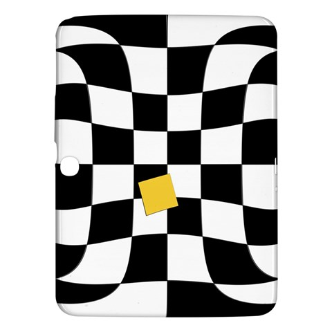 Dropout Yellow Black And White Distorted Check Samsung Galaxy Tab 3 (10.1 ) P5200 Hardshell Case