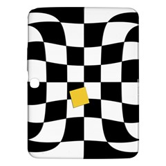 Dropout Yellow Black And White Distorted Check Samsung Galaxy Tab 3 (10 1 ) P5200 Hardshell Case