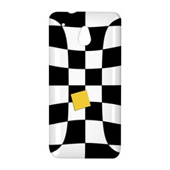 Dropout Yellow Black And White Distorted Check HTC One Mini (601e) M4 Hardshell Case