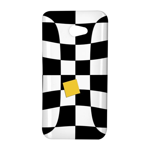 Dropout Yellow Black And White Distorted Check HTC Butterfly S/HTC 9060 Hardshell Case