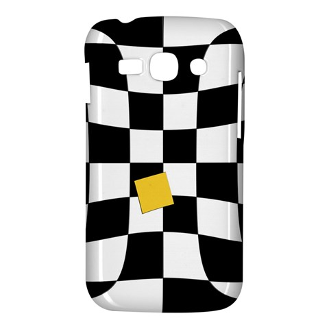 Dropout Yellow Black And White Distorted Check Samsung Galaxy Ace 3 S7272 Hardshell Case
