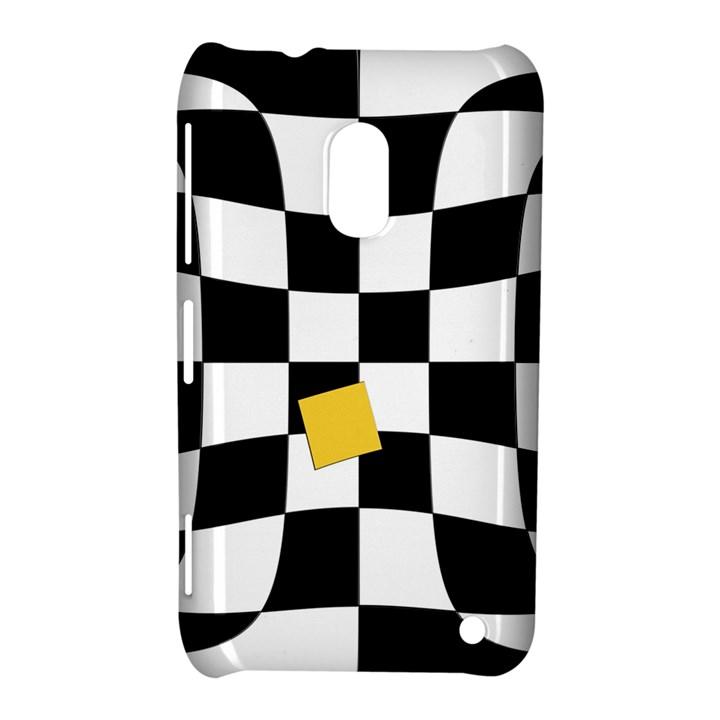 Dropout Yellow Black And White Distorted Check Nokia Lumia 620