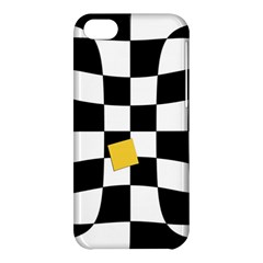Dropout Yellow Black And White Distorted Check Apple Iphone 5c Hardshell Case