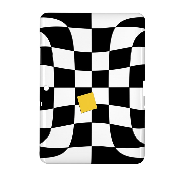 Dropout Yellow Black And White Distorted Check Samsung Galaxy Tab 2 (10.1 ) P5100 Hardshell Case