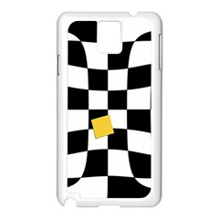 Dropout Yellow Black And White Distorted Check Samsung Galaxy Note 3 N9005 Case (White)
