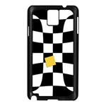 Dropout Yellow Black And White Distorted Check Samsung Galaxy Note 3 N9005 Case (Black) Front