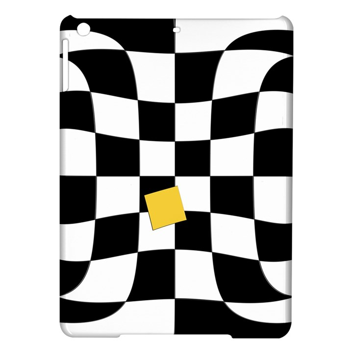 Dropout Yellow Black And White Distorted Check iPad Air Hardshell Cases