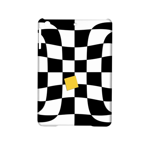 Dropout Yellow Black And White Distorted Check iPad Mini 2 Hardshell Cases