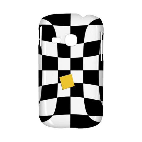 Dropout Yellow Black And White Distorted Check Samsung Galaxy S6310 Hardshell Case