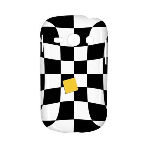 Dropout Yellow Black And White Distorted Check Samsung Galaxy S6810 Hardshell Case