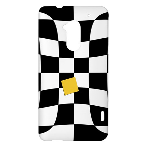 Dropout Yellow Black And White Distorted Check HTC One Max (T6) Hardshell Case