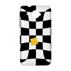 Dropout Yellow Black And White Distorted Check HTC Desire 601 Hardshell Case