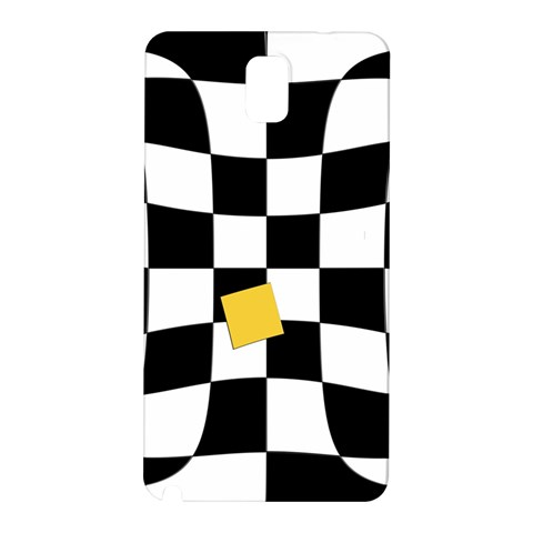 Dropout Yellow Black And White Distorted Check Samsung Galaxy Note 3 N9005 Hardshell Back Case