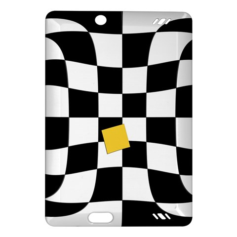 Dropout Yellow Black And White Distorted Check Amazon Kindle Fire HD (2013) Hardshell Case