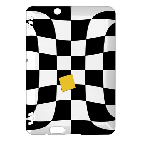 Dropout Yellow Black And White Distorted Check Kindle Fire HDX Hardshell Case