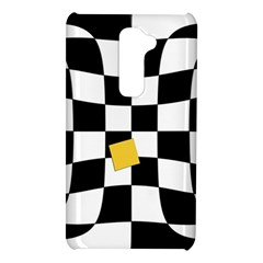 Dropout Yellow Black And White Distorted Check LG G2