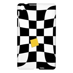 Dropout Yellow Black And White Distorted Check Nexus 7 (2013)