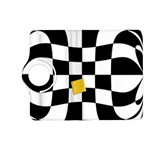 Dropout Yellow Black And White Distorted Check Kindle Fire HD (2013) Flip 360 Case Front