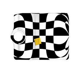 Dropout Yellow Black And White Distorted Check Kindle Fire HDX 8.9  Flip 360 Case