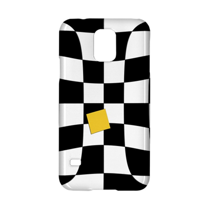 Dropout Yellow Black And White Distorted Check Samsung Galaxy S5 Hardshell Case