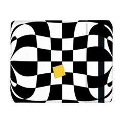 Dropout Yellow Black And White Distorted Check Samsung Galaxy Tab Pro 8 4  Flip Case