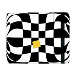 Dropout Yellow Black And White Distorted Check Samsung Galaxy Tab Pro 8.4  Flip Case Front
