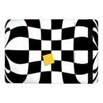 Dropout Yellow Black And White Distorted Check Samsung Galaxy Tab Pro 10.1  Flip Case Front