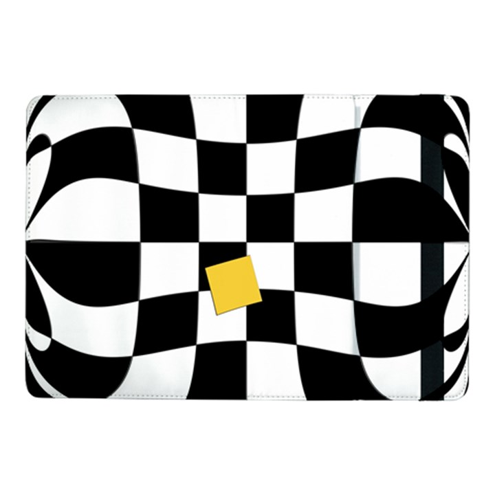 Dropout Yellow Black And White Distorted Check Samsung Galaxy Tab Pro 10.1  Flip Case