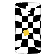 Dropout Yellow Black And White Distorted Check Samsung Galaxy S5 Back Case (White)