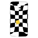 Dropout Yellow Black And White Distorted Check Samsung Galaxy S5 Back Case (White) Front
