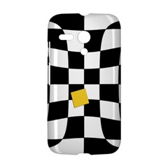 Dropout Yellow Black And White Distorted Check Motorola Moto G