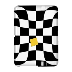 Dropout Yellow Black And White Distorted Check Amazon Kindle Fire (2012) Hardshell Case