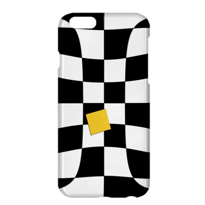 Dropout Yellow Black And White Distorted Check Apple iPhone 6 Plus/6S Plus Hardshell Case