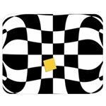 Dropout Yellow Black And White Distorted Check Double Sided Flano Blanket (Medium)  60 x50 Blanket Front