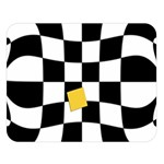 Dropout Yellow Black And White Distorted Check Double Sided Flano Blanket (Large)  80 x60 Blanket Front