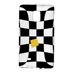 Dropout Yellow Black And White Distorted Check Galaxy Note Edge