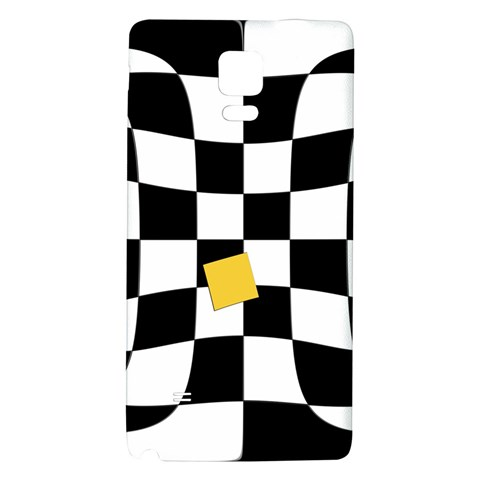 Dropout Yellow Black And White Distorted Check Galaxy Note 4 Back Case