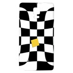 Dropout Yellow Black And White Distorted Check Galaxy Note 4 Back Case Front